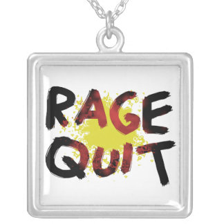 Rage Quit Silver Plated Necklace