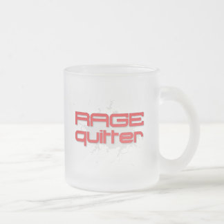 Rage Quitter Gamer 10 Oz Frosted Glass Coffee Mug
