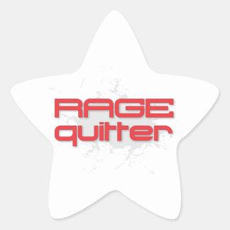 Rage Quitter Gamer Star Stickers