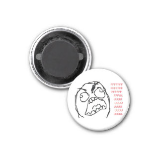 Rage Troll Refrigerator Magnet
