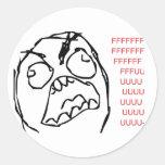 Rage Troll Round Stickers