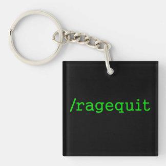 Ragequit Gamer Keychain