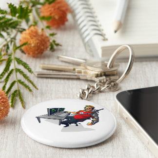 RaGEZONE Key Ring Basic Round Button Keychain