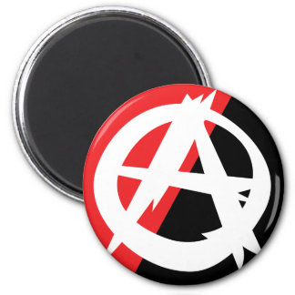 Ragged Anarchy Symbol Magnet