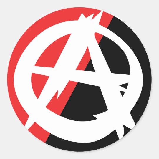Ragged Anarchy Symbol Sticker Zazzle
