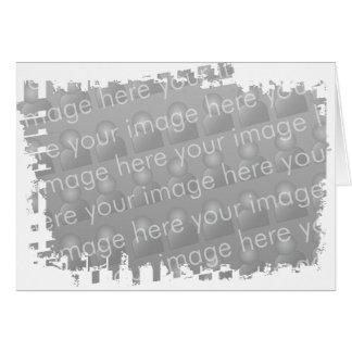 Ragged Border Design Greeting Card
