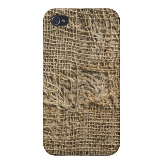 Ragged Jute Fabric Texture iPhone 4 Case