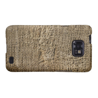 Ragged Jute Fabric Texture Samsung Galaxy S Case Samsung Galaxy SII Covers