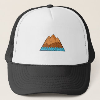 Ragged Mountain Waves Mono Line Trucker Hat