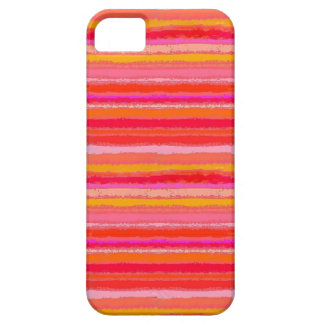 Ragged Rainbow Stripes Orange Red Gold and Pink iPhone SE/5/5s Case