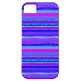 Ragged Rainbow Stripes Purples, Pink and Blue iPhone SE/5/5s Case