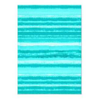Ragged Rainbow Stripes Shades of Aqua Card