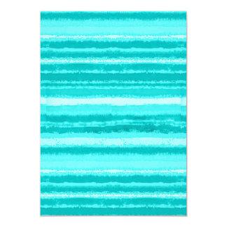 Ragged Rainbow Stripes Shades of Aqua Card