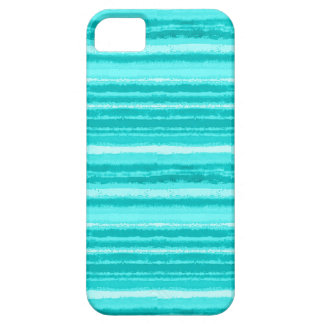 Ragged Rainbow Stripes Shades of Aqua iPhone SE/5/5s Case