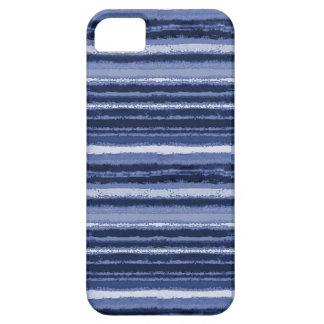 Ragged Rainbow Stripes Shades of Cobalt Blue iPhone SE/5/5s Case