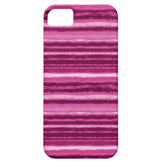 Ragged Rainbow Stripes Shades of Hot Pink iPhone SE/5/5s Case