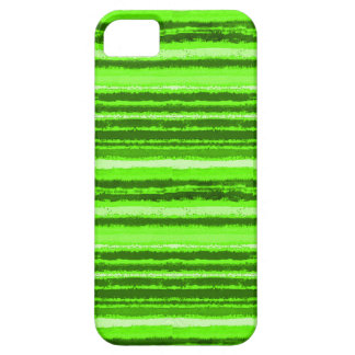 Ragged Rainbow Stripes Shades of Lime Green iPhone SE/5/5s Case