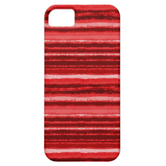 Ragged Rainbow Stripes Shades of Red iPhone SE/5/5s Case
