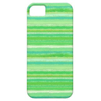 Ragged Rainbow Stripes Tropical Greens iPhone SE/5/5s Case
