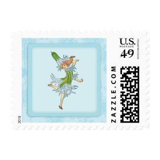 Ragged Robin Flower Child Art Stamp