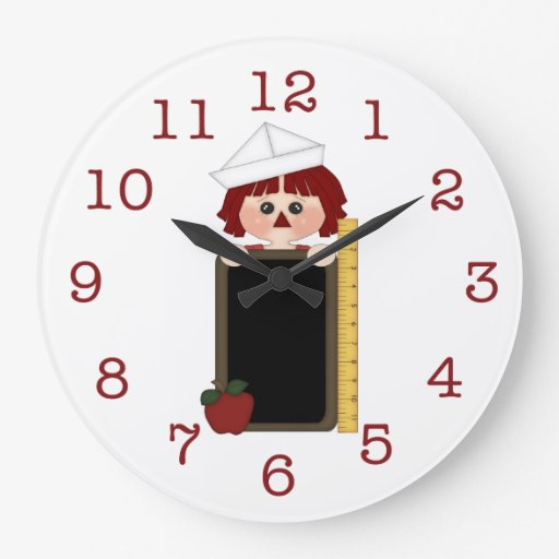 Raggedy Andy with Chalkboard/Ruler Wall Clock