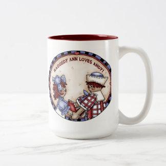 Raggedy Ann and Andy mug