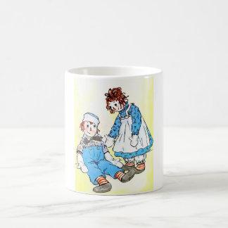 Raggedy Ann and Andy Vintage Illustration 1918 Coffee Mug