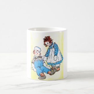 Raggedy Ann and Andy Vintage Illustration 1918 Classic White Coffee Mug