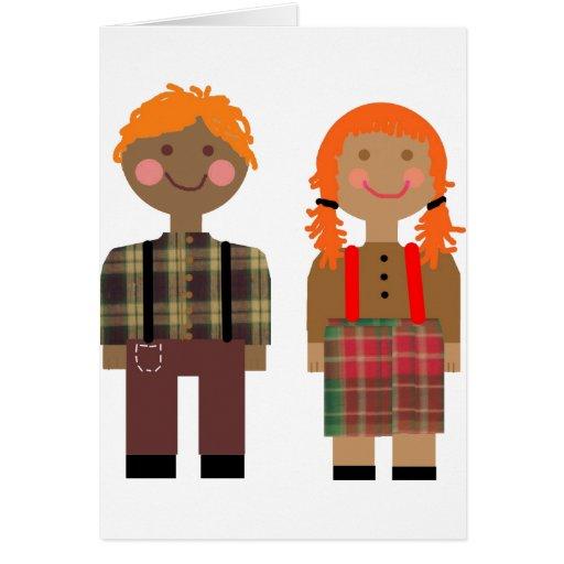 Raggedy Ann & Andy Greeting Card
