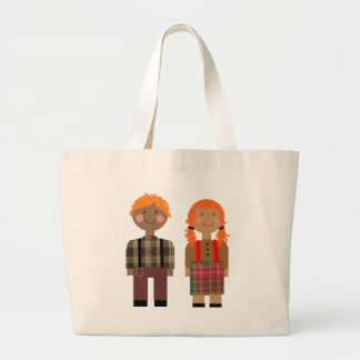 Raggedy Ann & Andy Large Tote Bag