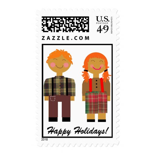 Raggedy Ann & Andy Stamp