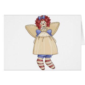 Raggedy Ann angel Greeting Cards