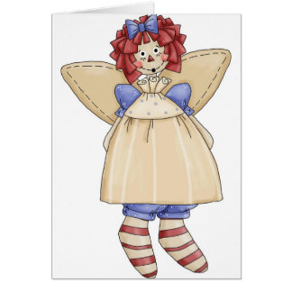 Raggedy Ann angel Card