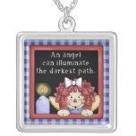 Raggedy Ann Angel Faith Necklace