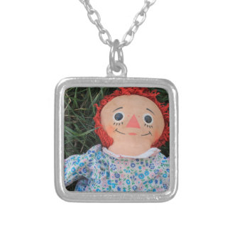 Raggedy Ann Doll 1 Silver Plated Necklace