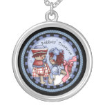 Raggedy Ann Loves Andy Necklace
