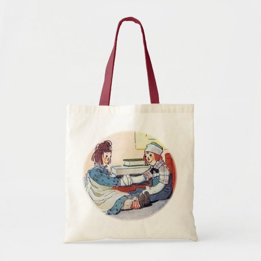 Raggedy Ann & Raggedy Andy Meet for the First Time Canvas Bag