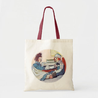 Raggedy Ann & Raggedy Andy Meet for the First Time Tote Bag