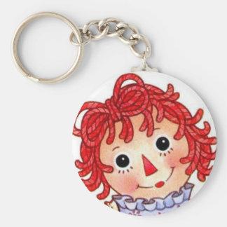 Raggedy Ann smiling face Keychain