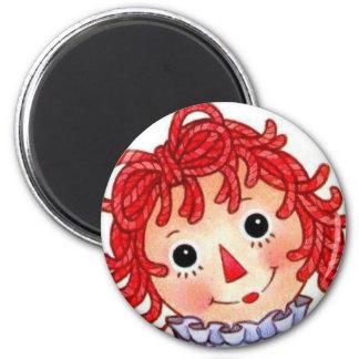 Raggedy Ann smiling face Fridge Magnets