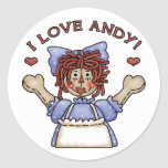 Raggedy Ann stickers