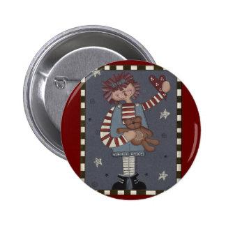 Raggedy Annie 2 Inch Round Button