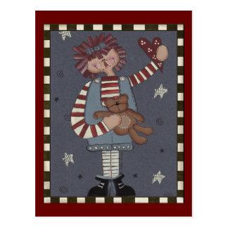 Raggedy Annie Postcard
