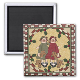 Raggedy Annies Refrigerator Magnet