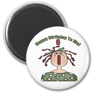 Raggedy Doll 6th Birthday Gifts Magnet