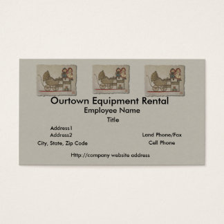 Raggedy Doll & Baby Buggy Business Card