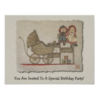 Raggedy Doll & Baby Buggy Card