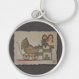 Raggedy Doll & Baby Buggy Key Chain