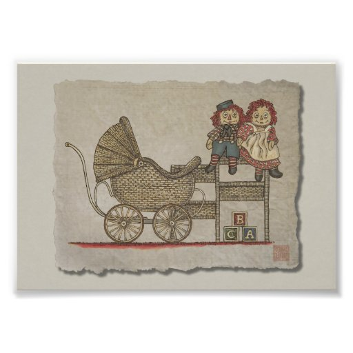 Raggedy Doll & Baby Buggy Photographic Print