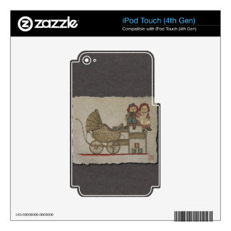 Raggedy Doll & Baby Buggy iPod Touch 4G Decal